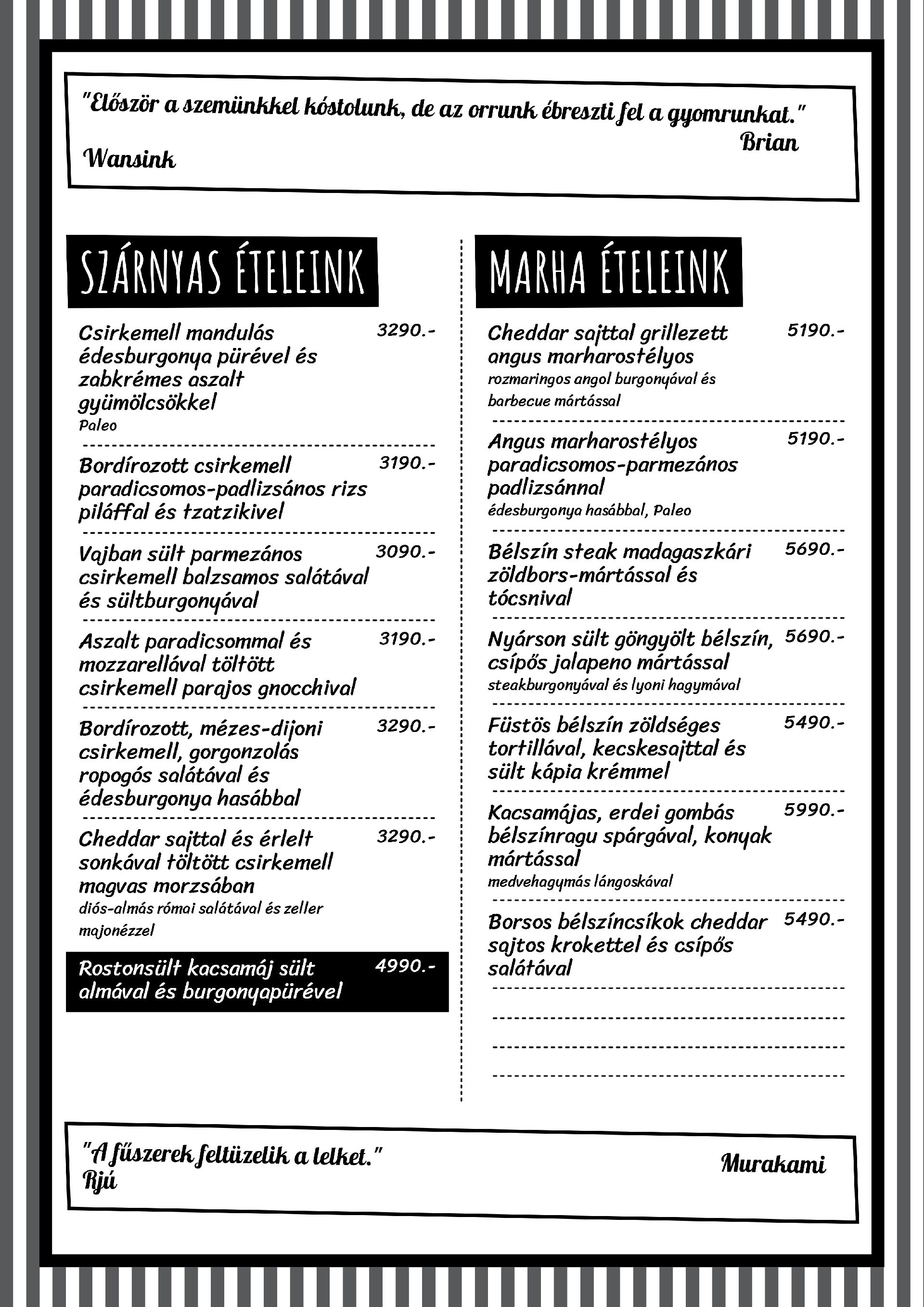Port Louis A4 menu 3